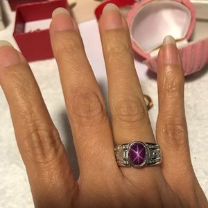 Jewelry - Natural Ruby 3.21 CT with diamonds.White Gold 14K.